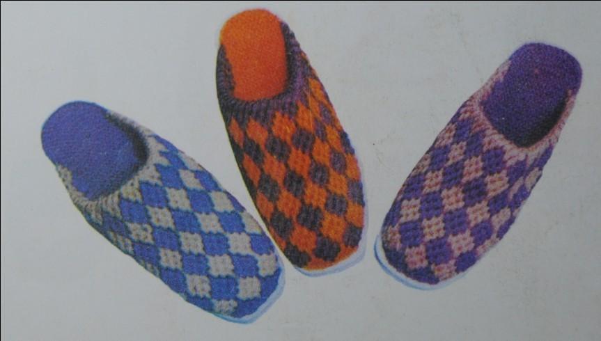 法图解拖鞋鞋面钩法图解拖鞋的钩法钩毛线拖鞋图案  863