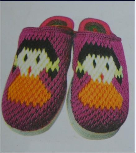 钩织毛线拖鞋图案毛线拖鞋的钩法图解毛线拖鞋图片