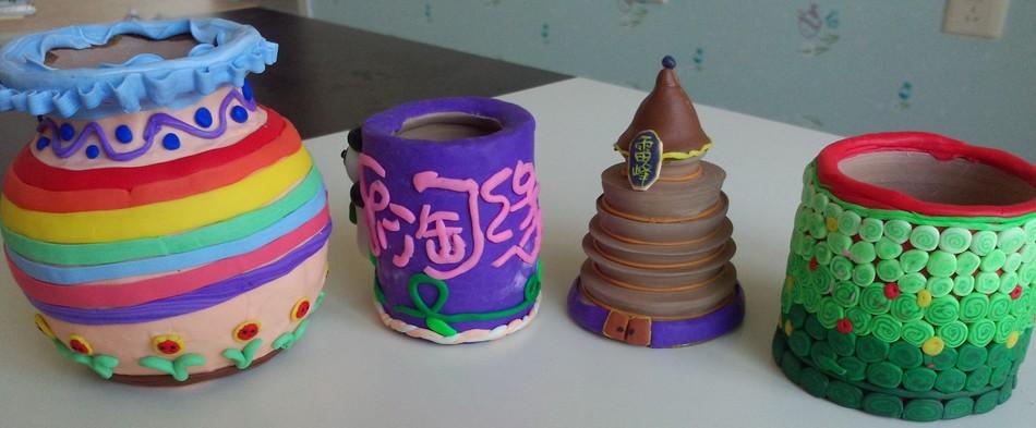 3,彩陶制作:用五颜六色的彩陶制作自己喜欢的手链,挂饰,动漫卡通形